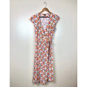 J Crew Mercantile Easy Fit 70s Floral Wrap Dress